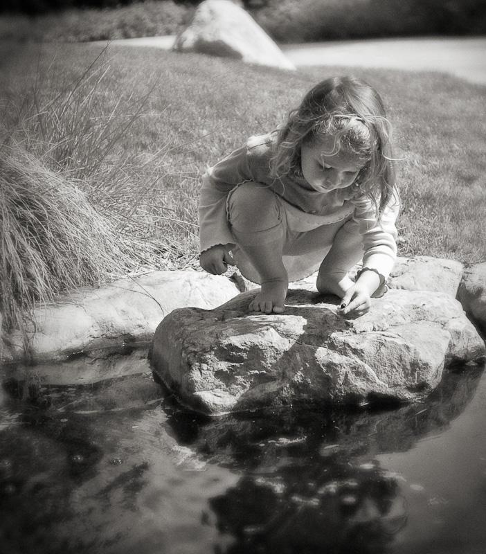 Emily Feeding Turtles